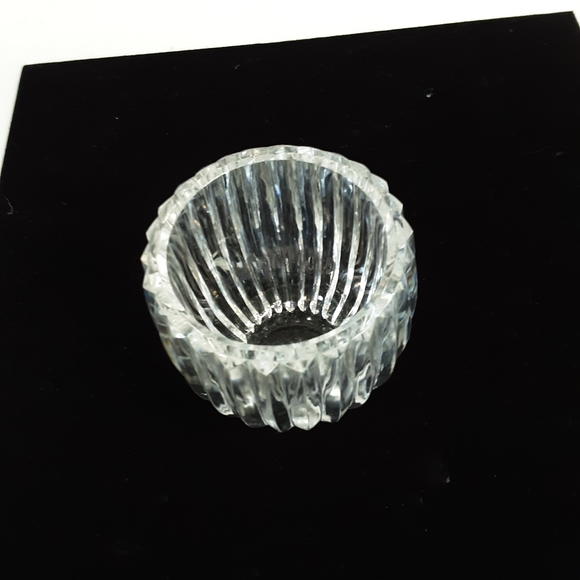 Lead crystal glass vase/tealight holder